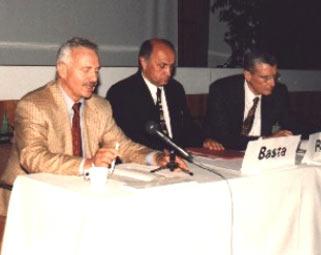 PD Dr. Lutz Wolnik mit den Vorsitzenden der Polnischen Gesellschaft Prof. A. Basta (Krakow) und dem Vorsitzenden der Französischen Gesellschaft Prof. J. Ritter (Straßbourg)