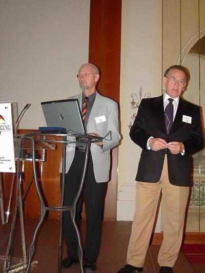 Dr. Schomann und Prof. Emanuel Diakomonolis (Präsident der EFC aus Athen)